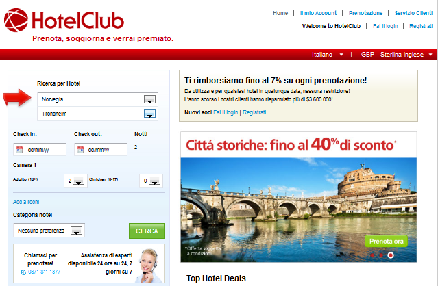 Offerte di hotel su HotelClub: cerca e trova un alloggio economico
