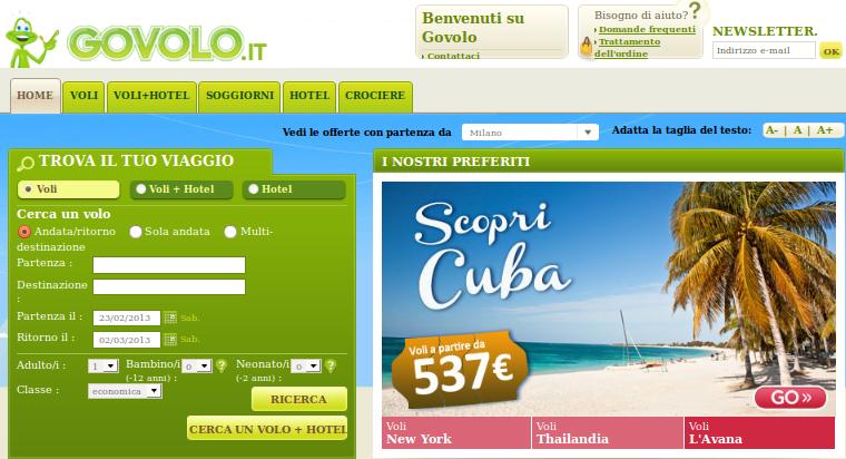 Govolo opinioni: efficienza per i siti di viaggio online