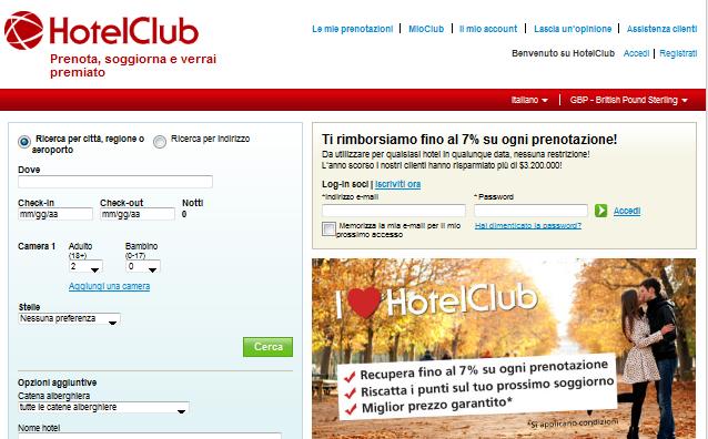 PRENOTA HOTELCLUB ONLINE PER TE