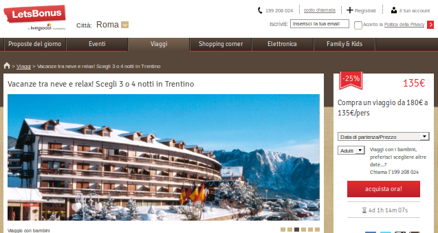 VACANZE NEVE LOWCOST